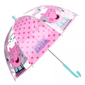 Parasolka przezroczysta Świnka Peppa transparentna