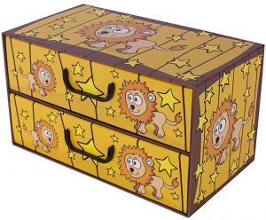 Pudełko Sawanna 2 szufladki poziome LEW