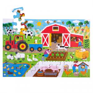 Puzzle drewniane Farma BJ913 48el.