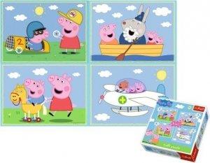 TREFL 34246 PUZZLE ŚWINKA PEPPA PIG 4w1 207el