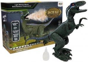 Interaktywny Dinozaur Velociraptor efekty Para Dźwięk Światło Ruch