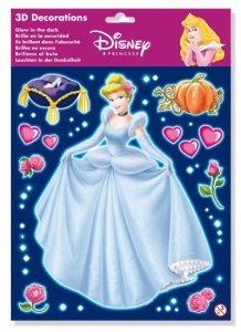 Naklejki 3D Princess Księżniczka