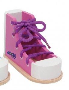Buty do nauki sznurowania but różowy