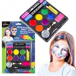 Zestaw do malowania twarzy i włosów 14 el. Farbki