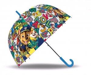 Parasolka Psi Patrol PAW transparentna pieski