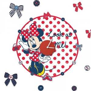 Zegar naklejka Myszka Mini Minnie Mouse Disney