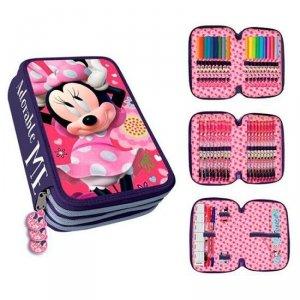 Piórnik potrójny z wyposażeniem Myszka Mini Minnie Mouse Disney