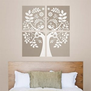Drzewo i zakochane ptaszki