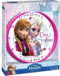 Zegar ścienny Kraina Lodu Elsa i Anna