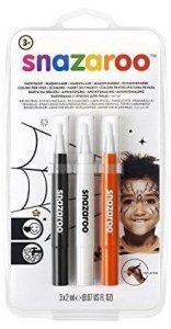 Markery do malowania twarzy Farby w pędzelku Halloween