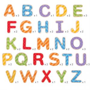 Magnesy na lodówkę Duże Literki - Alfabet - Litery