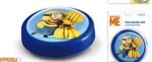 Lampka push na baterie Minionki Minions LED blue