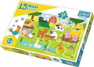 TREFL Puzzle 15 Maxi Zwierzęta na wsi 14275