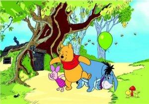 Fototapeta Disney Pooh Kubuś Puchatek 360x254cm