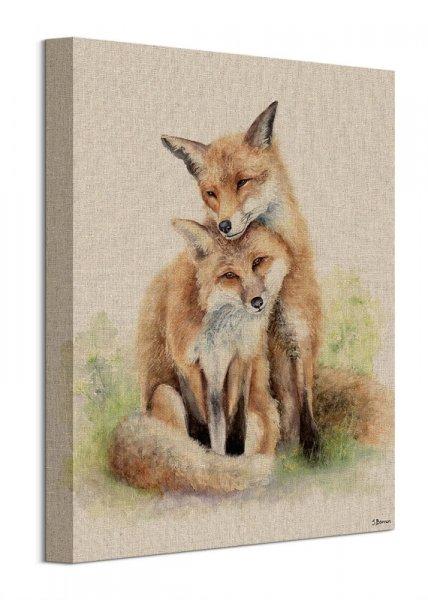 Zakochane lisy - obraz na płótnie