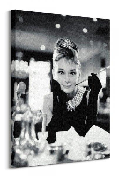 Audrey Hepburn Śniadanie u Tiffany'ego - obraz na płótnie