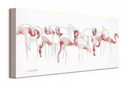 Różowe flamingi - obraz na płótnie