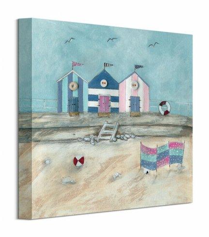 Domki na plaży - obraz na płótnie