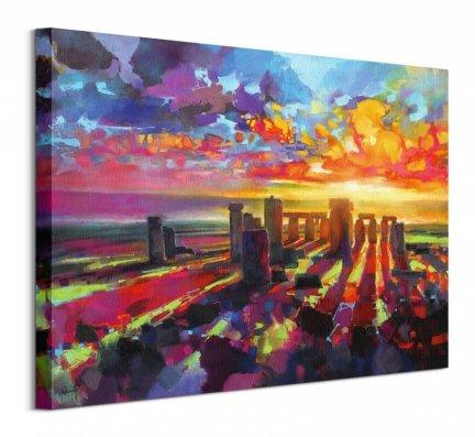 Malownicze Stonehenge - obraz na płótnie