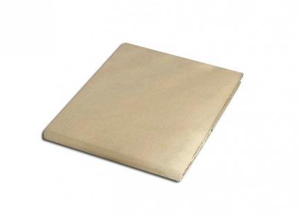 Prześcieradło satyna bawełniana 200x220 cm kolor krem