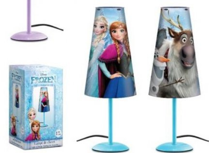 Lampka nocna Disney Frozen biurkowa Kraina Lodu sieciowa blue