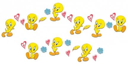 Tweety mini pianki x24
