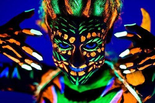 Farba do ciała i twarzy 13ml Neon UV z pędzelkiem