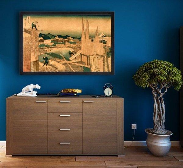 Hokusai, Lumber Yard - plakat