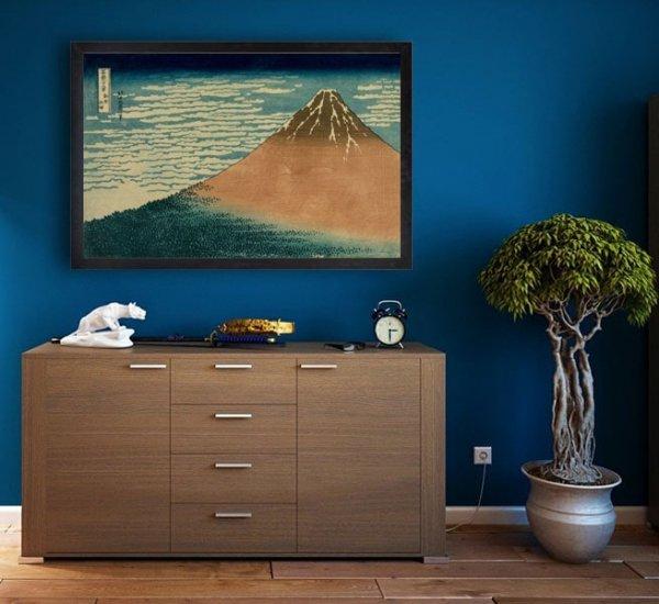 Hokusai, Fuji in Clear Weather - plakat