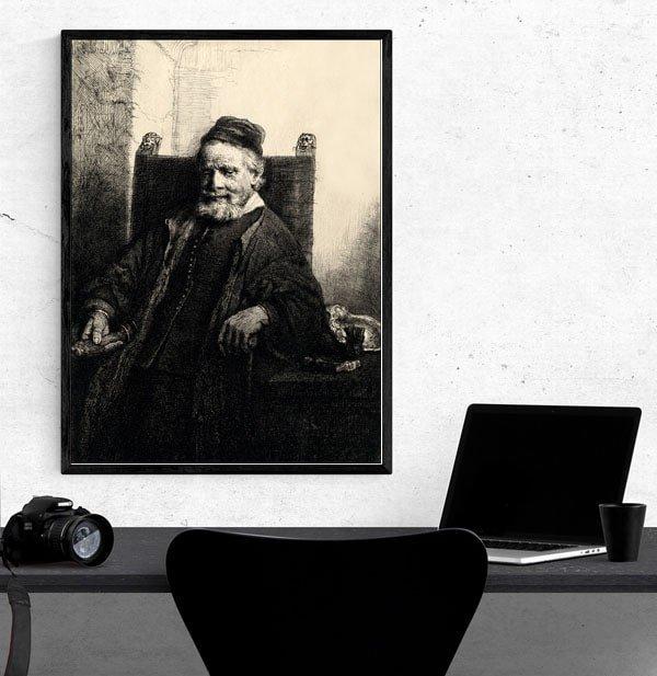 Jan Lutma, Rembrandt - plakat