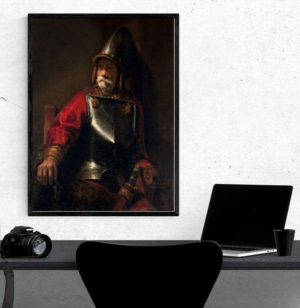 Man in Armor (Mars), Rembrandt - plakat