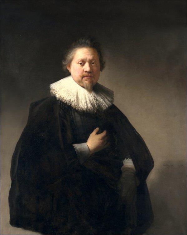 Portrait of a Man, probably a Member of the Van Beresteyn Family, Rembrandt - plakat