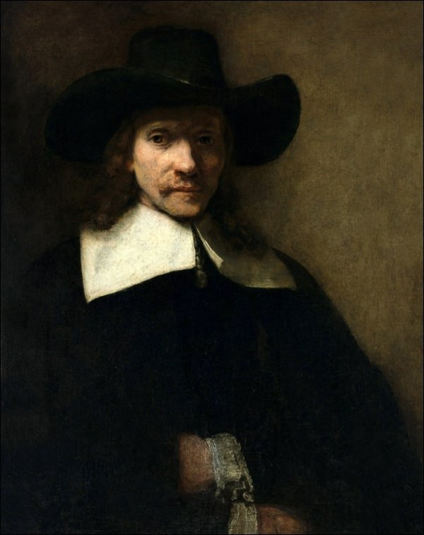 Portrait of a Man, Rembrandt - plakat
