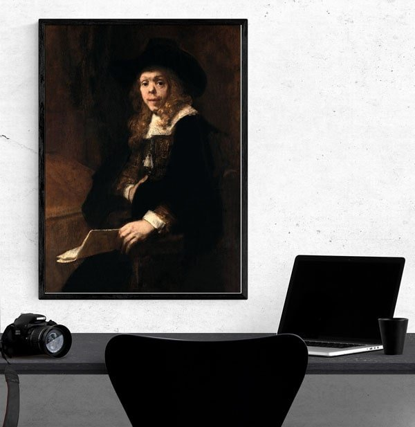 Portrait of Gerard de Lairesse, Rembrandt - plakat