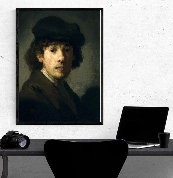 Rembrandt (1606–1669) as a Young Man, Rembrandt - plakat