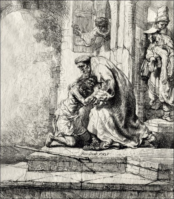 Return of the Prodigal Son, Rembrandt - plakat