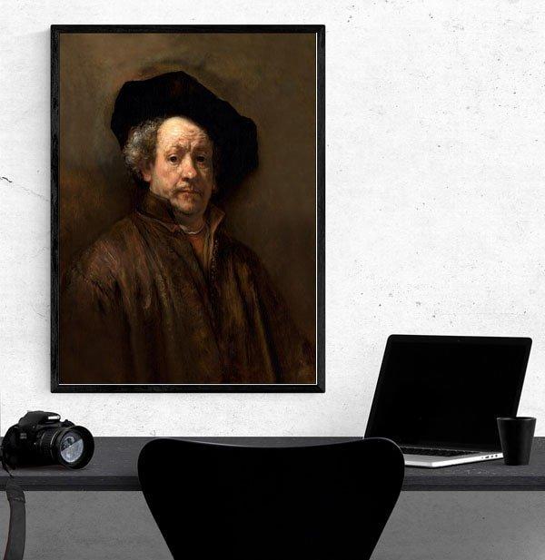 Self Portrait, Rembrandt - plakat