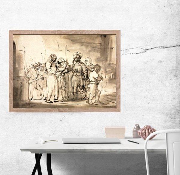 Christ Taken Before Caiaphas, Rembrandt - plakat