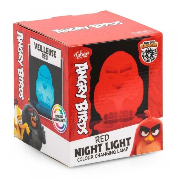 Lampka ANGRY BIRDS zmieniający kolory LED red