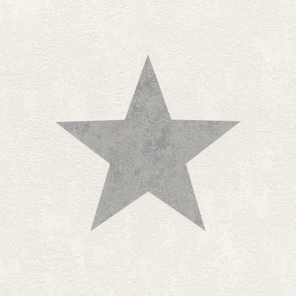 Tapeta Gwiazdki biała srebrne Gwiazdy