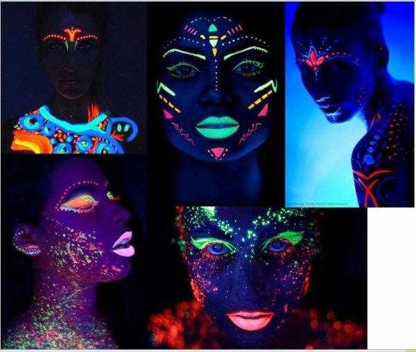 Kredki do twarzy i ciała NEON UV
