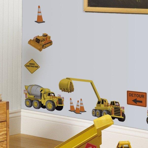 Naklejki Maszyny Budowlane - Na budowie