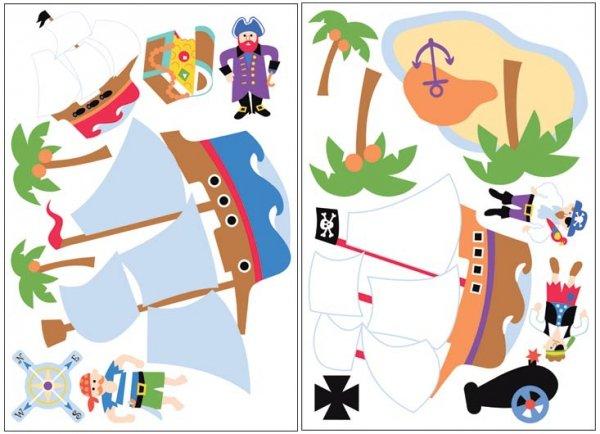 Naklejki dla dzieci Piraci i Wyspa Skarbów