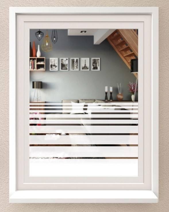 Statyczna folia okienna 67,5x200cm białe pasy