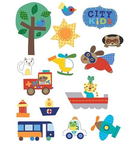 Naklejki City Kids stwórz własne miasto