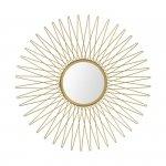 Lustro ścienne słońce złote 49 cm