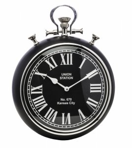 Zegar czarny dewizka