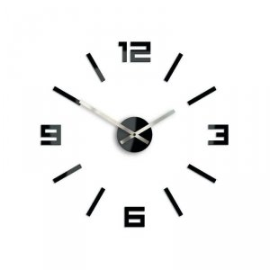 Zegar Arabic czarny 50 cm