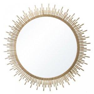 Duże lustro słońce krótkie promienie glamour złote