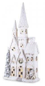 Piękny zimowy domek zamek LED